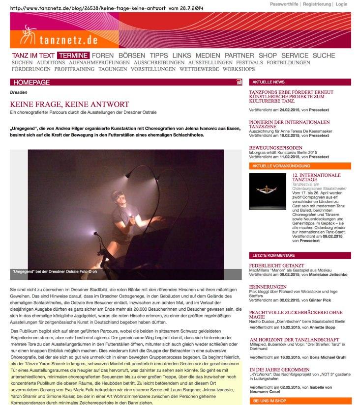 Tanznetz 28.7.2014