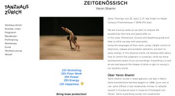 Profi training Tanzhaus Zurich